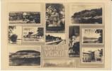 Voru Estonia, Multi-view School Street Scene Railroad Station On C1920s/30s Vintage Real Photo Postcard - Estonie