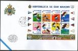 SAN MARINO - SAINT MARIN - 17/04/2001 - IX GIOCHI DEI PICCOLI STATI D'EUROPA  - FDC - FDC