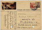 SWITZERLAND 1948 10c Card Stoos Train To German Russian Zone P - Ganzsachen