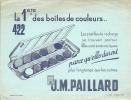Buvard J M PAILLARD La 1ere Des Boites De Couleurs 422 Les Pastilles De Recharge - Papeterie