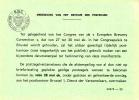 Dienstpostkaart - Brussel - Aankondiging Speciale Stempel/tijdelijk Postkantoor - Congres Brewery Convention (1963) - Gefälligkeitsabstempelung
