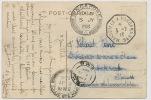 Card Sent To Ste Française Mines Etain Ipoh 1916 On Port Said Card Paquebot Polynesien - Malaysia