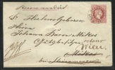 1871 - Einschreiben 5 Kr Ganzsachenumschlag + 10Kr Zusatzfrankierung - Zurückbefördert - 1850-1918 Imperium