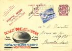 535/19 -  Entier Publibel EXPRES Sceau Etat + TP Expo 39 LIEGE 1939 Vers BXL - Thème Charbonnages - Publibels