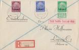 Elsass R-Brief Dt. Dienstpost Elsass Mif Minr.3 UR,8,10 SR Straßburg 5.10.40 - Besetzungen 1938-45