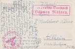 AK Feldpost Durch Dt. Dienstpost Böhmen Mähren Ansehen !!!!!!!!!!!!!!!! - Besetzungen 1938-45