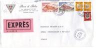 TZ573 - ANDORRA , Lettera Espresso Per L'Italia 22/4/1978 - Andorra Francese