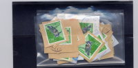 JAPAN, 1992-4, # 2161, PIED KING FISHER  USED  On Paper, 6 Gr ,50 Stamps - Japon