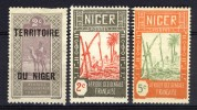 Niger (AOF) 1921 - 1922 - 1926, 3 Stamps With Gum (READ!!!) - Unclassified