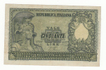ITALY 50 Lire 1951 VF P 91a 91 A - [ 2] 1946-… : Repubblica