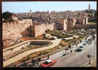 PALESTINA - GERUSALEMME. Cartolina Nuova Raffigurante La Città Santa. Mura, Porta Di Damasco, Giardini - Palästina