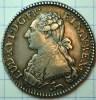 1/5 ECU ARGENT LOUIS XVI 1786 R ORLEANS QUALITE (petite Rayure Au Revers Prus Du O De NOMEN) - 987-1789 Monnaies Royales