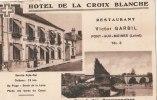 45 PONT AUX MOINES CPA Publicitaire RESTAURANT Victor GARBIL POMPE à ESSENCE Bords Du CANAL 1937 - France