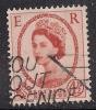 GB 1959 QE2 4 1/2d CHESTNUT WILDING USED STAMP SG 577. ( D393 ) - 1952-.... (Elizabeth II)
