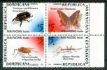 1999 Rep.Dominicana Insetti Insects Insectes Set MNH** Fo165 - Repubblica Domenicana