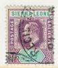 Sierra Leone  77  (o)  Wmk 3  Multi CA - Sierra Leone (...-1960)