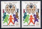 1979, Année Int. De L'Enfant, Y&T No. 841 (2x) , Neuf **, Lot 36122 - Marocco (1956-...)