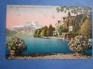 cpa / postcard / ak     hotel schloss- hotel hertenstein mit pilatus suisse
