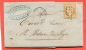 =*= 13A Petits Chiffres 1305 Fontenay-le-Comte>>>St-Hi Laire Des Loges (cachet Perlé) 26 10 58 =*= - 1862 Napoleon III