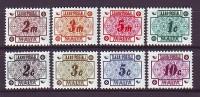 MALTA - 1973 -Portomarken -  MiNr. 38-45 - Postfrisch - Malta