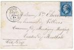 Etoile 30/ Lettre Pour Montbard.                                                                                  Lot46 - 1849-1876: Période Classique