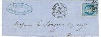 Etoile 28/ Demie-lettre Pour Reims.                                                                                Lot47 - 1849-1876: Période Classique