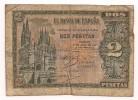 Spain - 1938 - 2 Pesetas - P109 - VG+ - [ 3] 1936-1975 : Regency Of Franco