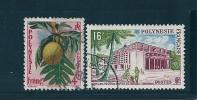 Polynésie  Timbres De 1958/60  N°13 Et 14  Oblitéré - Polynésie Française