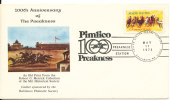 USA Cover 17-5-1975  100th Anniversary Of The Preakness Horse Racing With Nice Cachet - Hippisme