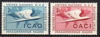 Nation-Unies 1955 YT 31+32 N** - New York – UN Headquarters