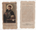San084 Santino, Image Pieuse, Holy Card | Sagomato 1920 | San Gabriele Dell'Addolorata, Chierico Passionista | Teschio - Devotion Images