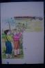 """RA#07#08 BOZZETTO ORIGINALE ACQUERELLO ZOFFILI Illustrazione """"QUEL BIRICHINO DI MARCELLINO""""/BAMBINI/RONDINI - Disegni"""