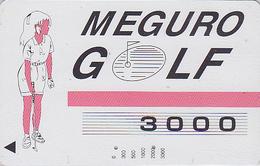 Carte Prépayée Japon - Sport - MEGURO GOLF Femme Girl / 3000 - Japan Sports Prepaid Member´s Card - 483 - Sport