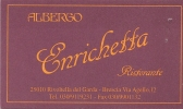 Albergo Enrichetta, Rivoltella Del Garda (Italie) - Cartes De Visite