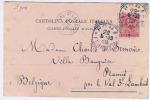 Oblitération 1900  ROMA-FERROVIA Vers Val St Lambert - Italie