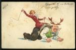 1929 COMIC POSTCARD SADO MASO CARTE POSTALE STAMP TIMBRE - Bandes Dessinées