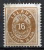 ICELAND 1876 - Sc.12 (Mi.9A, Yv.9A) MNG (VF) - Nuovi