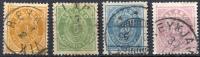 ICELAND 1882 - Yv.12A-15A (Mi.12A-15A, Sc.15-18) 1st Selection (all VF) - 1873-1918 Dänische Abhängigkeit