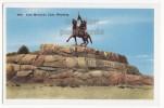 SHOSHONE CANYON -CODY MEMORIAL STATUE -BUFFALO BILL- WYOMING -WY - C1940s-1950s Vintage Postcard [o2921] - Cody