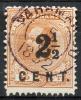 SURINAM 1892 Perf.12.5 - Yv.16A (Mi.27x, Sc,23a) Used (perfect) VF - Suriname ... - 1975