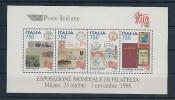 """Italia 1998 Foglietto Mondiali Di Filatelia Nuovo** """" Punto Blu In Alto A Destra Sotto ITALIA 98"""" - 1946-.. République"""