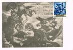 Tarjeta Maxima Madrid 1966, Lucha De Jacob Y El Angel , Pintor SERT - Tarjetas Máxima