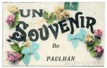 Paulhan, Un Souvenir, Roujan 27-8-1910, Loubet,instituteurs - Paulhan