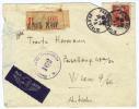 """Frankreich, 1946, Rekobrief Nach Wien Mit Zensurstempel """"162"""" (9055W) - Frankreich"""
