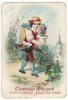 CHROMO Chocolat Poulain Enfant Garçon Fleurs Sacoche Lettres Plis Courrier - Poulain