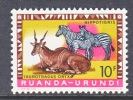 Ruanda-Urundi  148   **      FAUNA  WILD ANIMALS - 1948-61: Mint/hinged