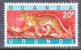 Ruanda-Urundi  149   **      FAUNA  WILD ANIMALS  LEOPARD - Ruanda-Urundi
