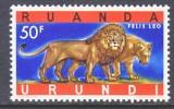 Ruanda-Urundi  150   **      FAUNA  WILD ANIMALS  LION - 1948-61: Mint/hinged