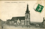 CPA 18 SENS BEAUJEU L EGLISE ET LA PLACE 1912 - Autres Communes