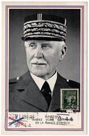 PETAIN LIBERATION  LYON Oblitération Lyon Libéré 2-9-1944 Sur Lyon Type Pétain Vert état Superbe - Liberation
